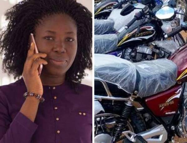 Napaga Tia Sulemana donates 10 motor bikes  to boost campaign activities in Nantong constituency