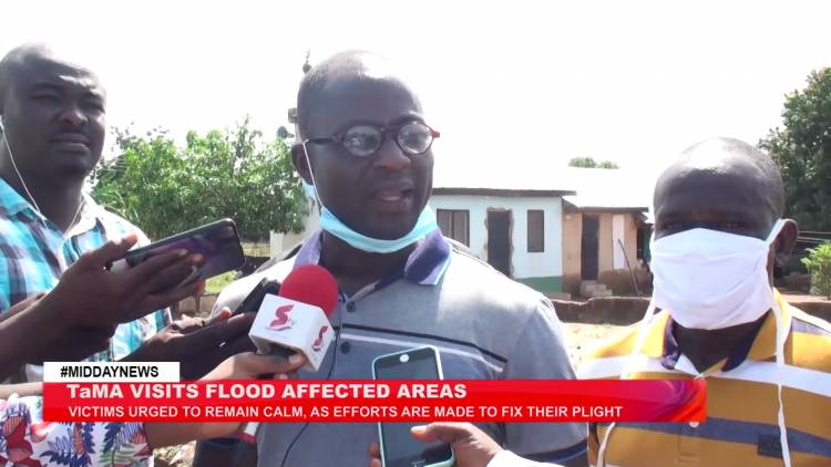 Tamale Metropolitan Assembly embarks on an inspection exercise across some flood affected areas