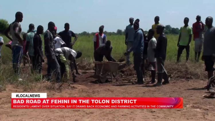 Tolon District: Residents lament over poor road network in Fehini