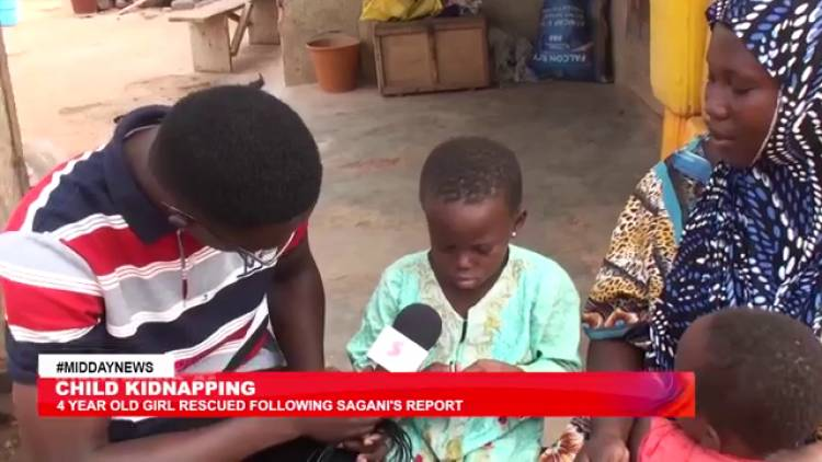 Sagani Tv gets results: Kidnapped girl rescued after news report