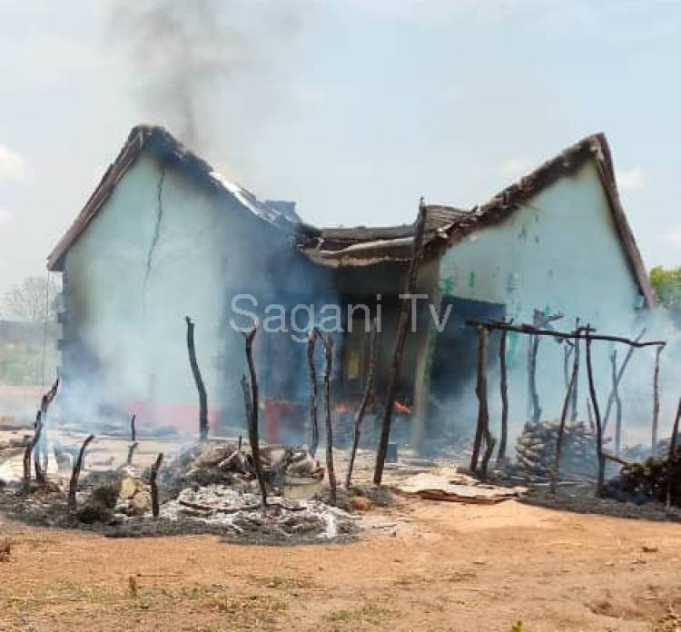 N/R: House of a 60 Year Old Woman Burnt for Alleged Witchcraft in Nakpali
