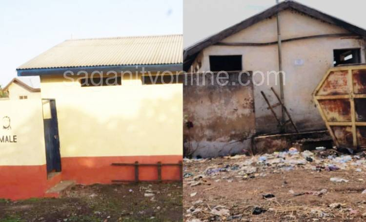 Decade old abandoned public toilet receives facelift by philanthropist at Gagbuni